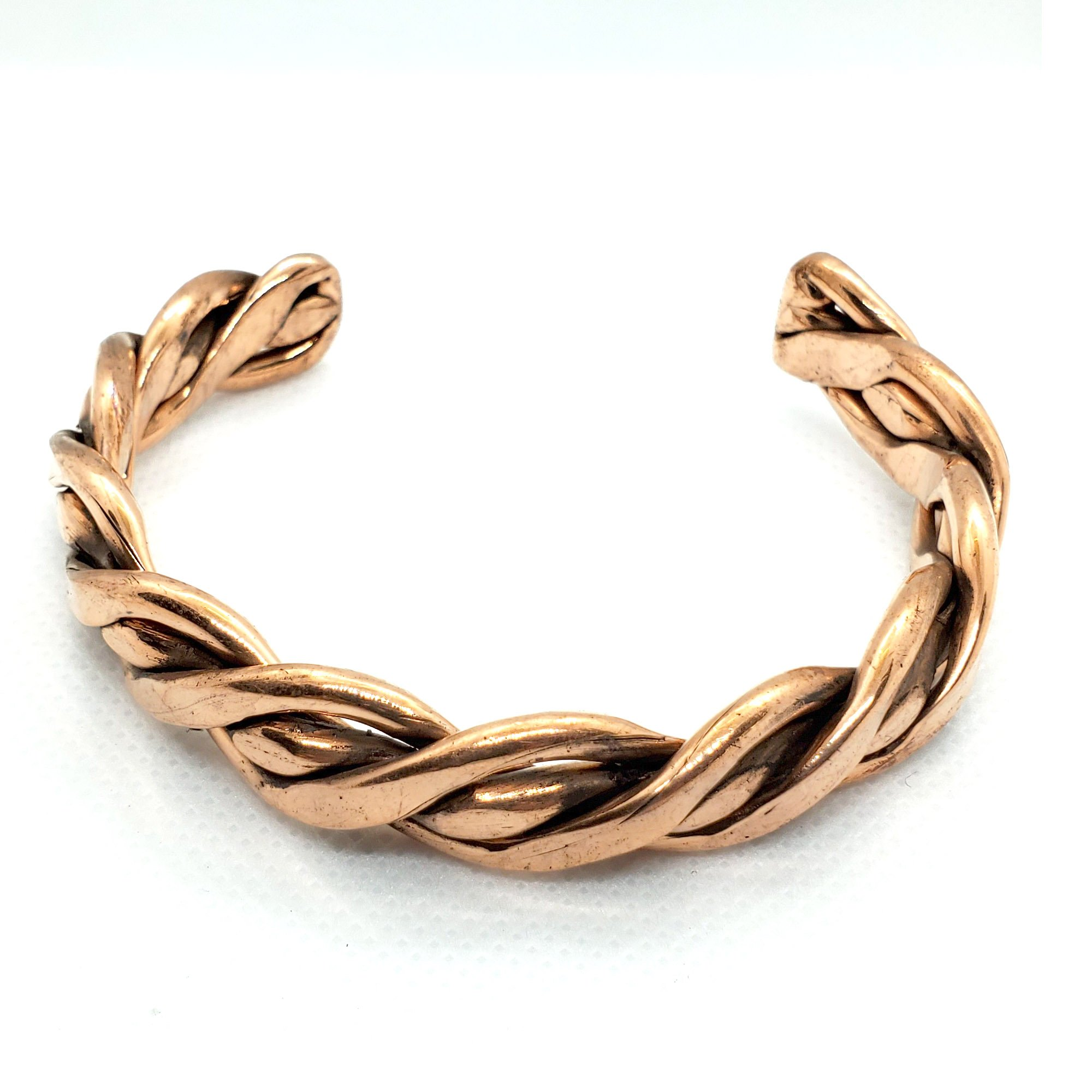 Braided Copper Bracelet Natural